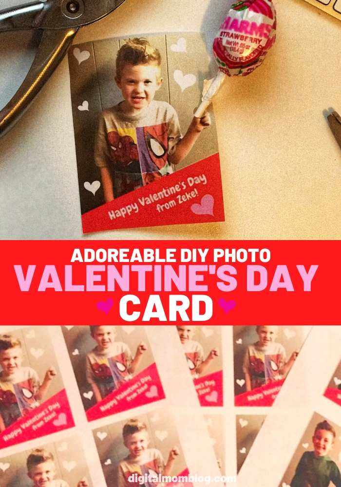 photo valentines day card candy