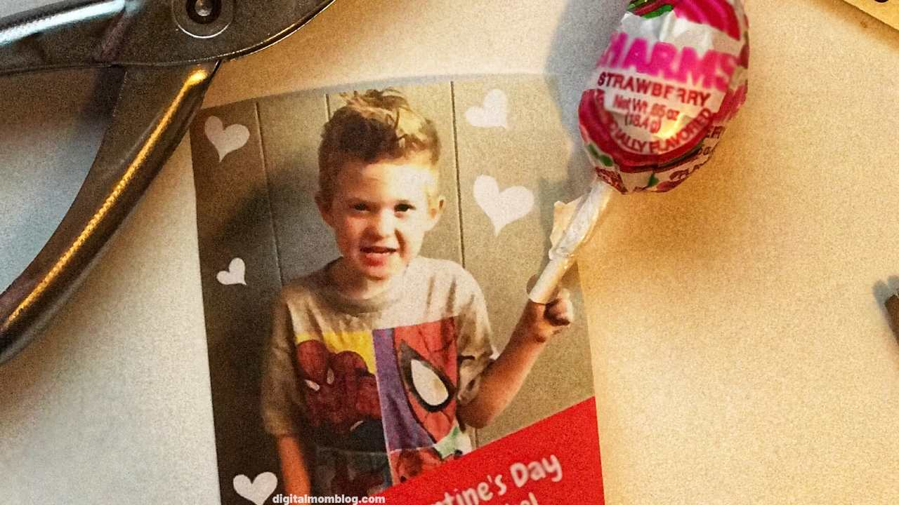 valentines day photo card template free candy