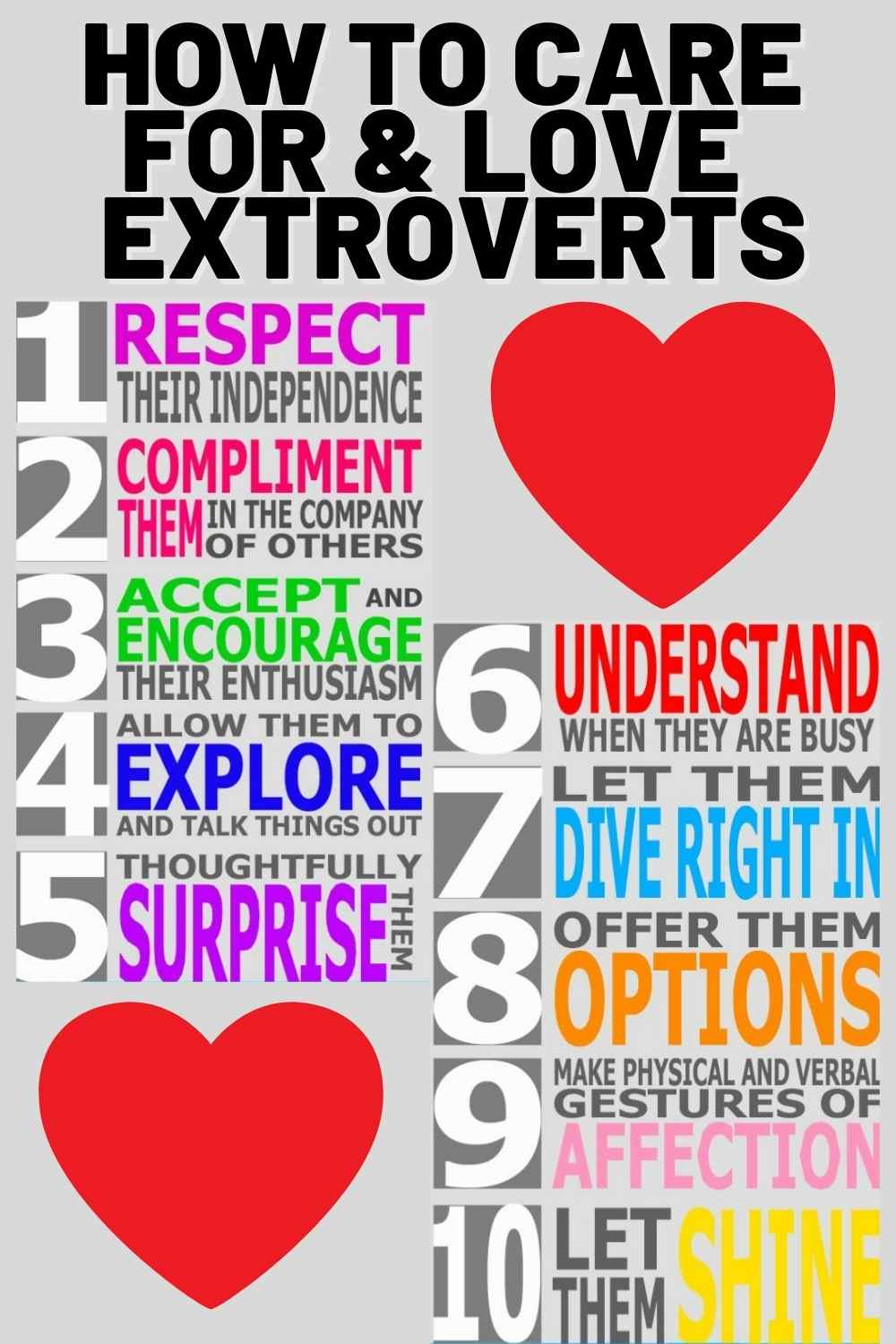 how to love and care for extrovert tips