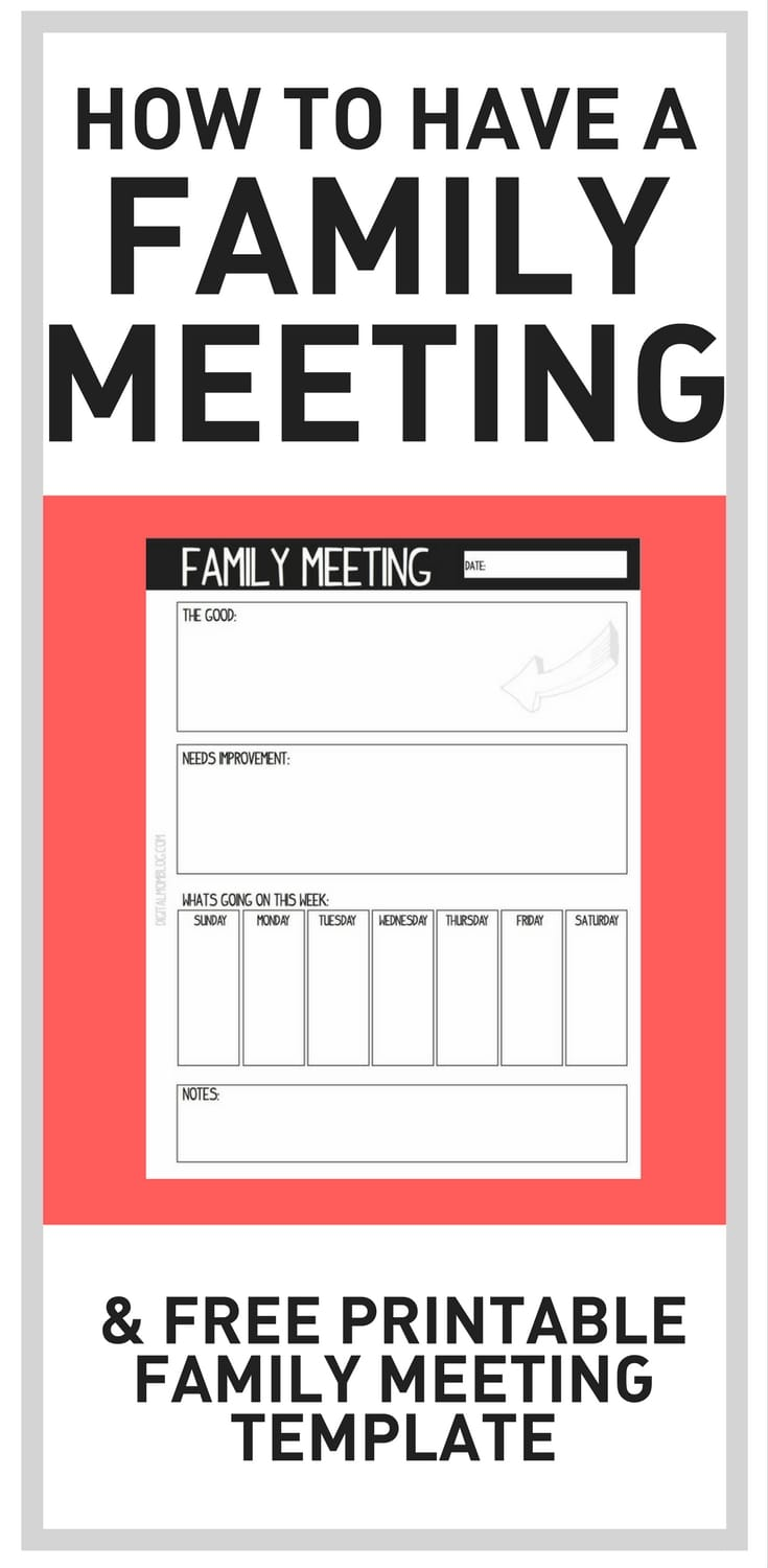 how to have a family meeting and free printable family meeting template pdf