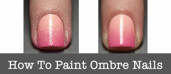 how to paint ombre nails
