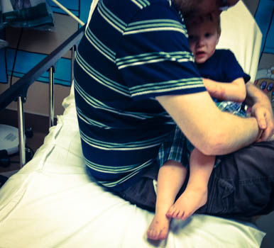 emergency room with toddler