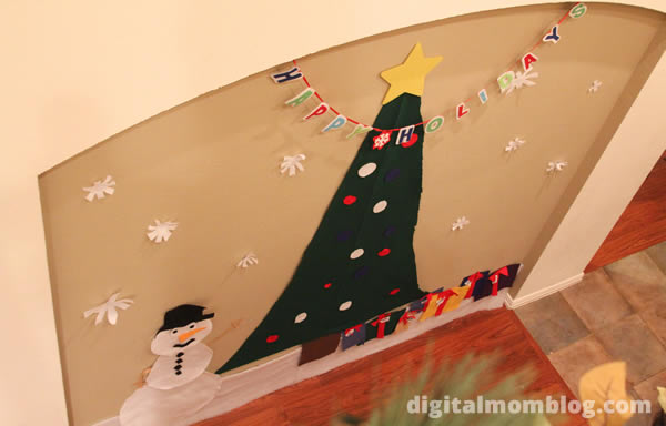 christmas tree for toddlers made from felt