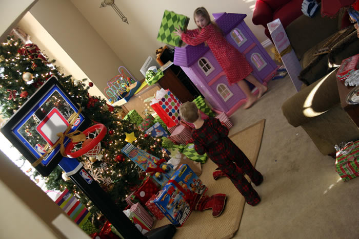 first thing christmas morning