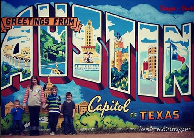 greetings from austin texas mural photo