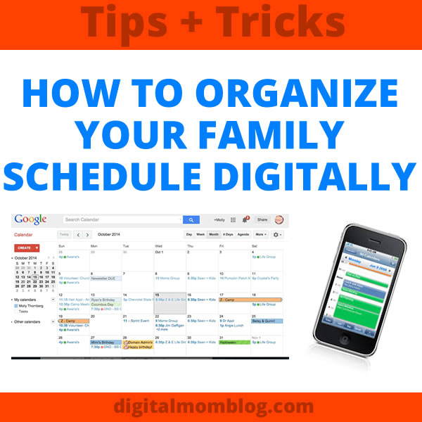 How to Organize Your Family Schedule Digitally