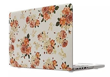 15 inch macbook pro case with peony flowers