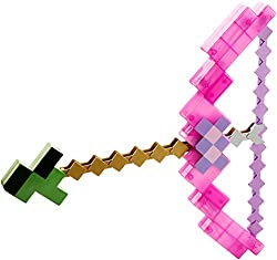 toy minecraft bow and arrow pink