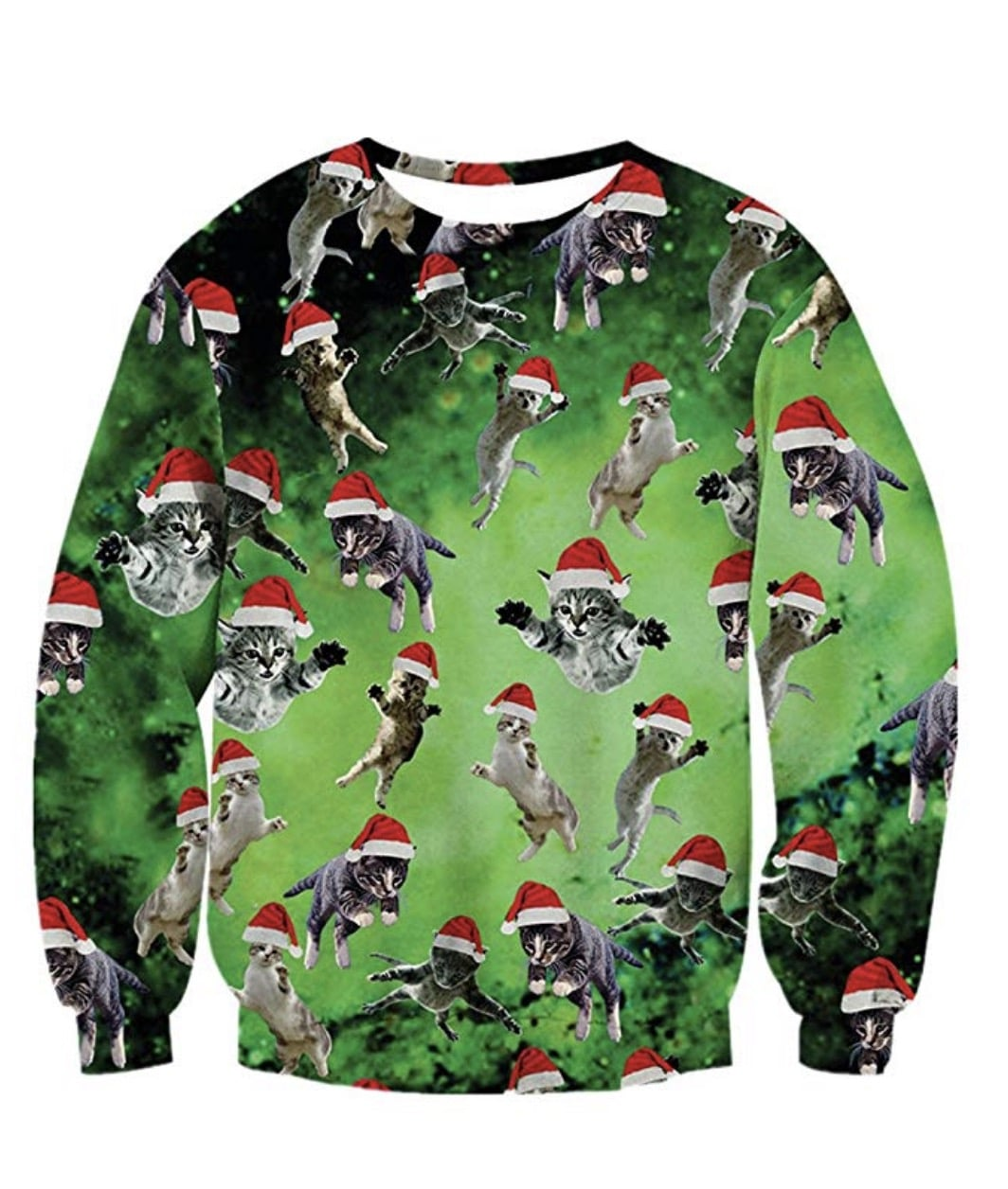 ugly cat christmas sweater