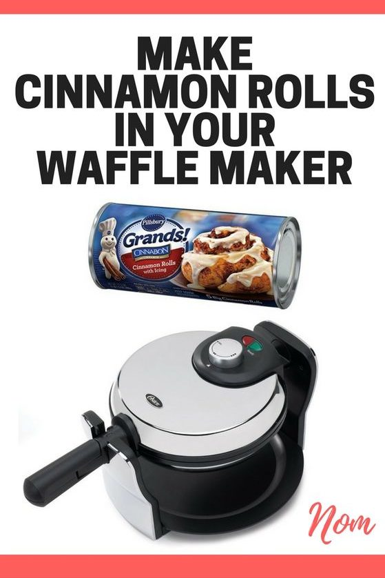 | Make Cinnamon Waffles in the Waffle Maker - Cinnamon Roll Waffles Recipe