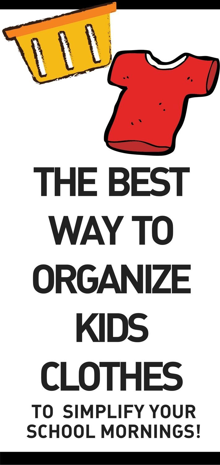 laundry hack best way to organize kids clothes
