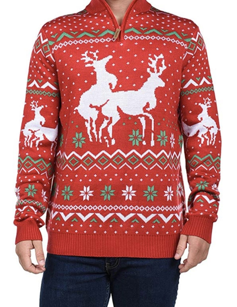 oh deer funny christmas sweaters