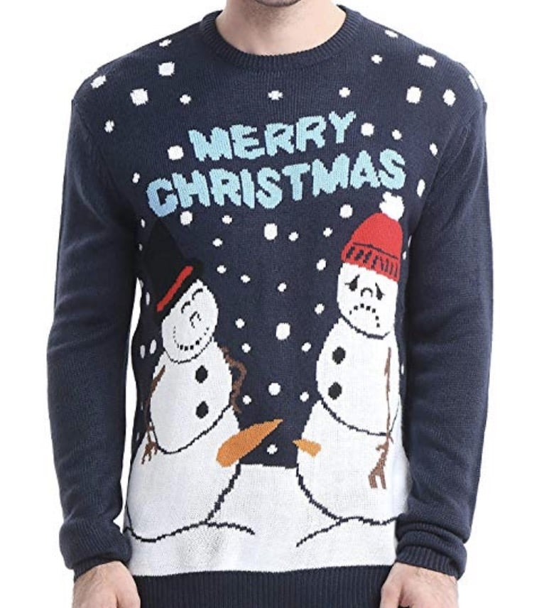 snowmen carrots inappropriate christmas sweater