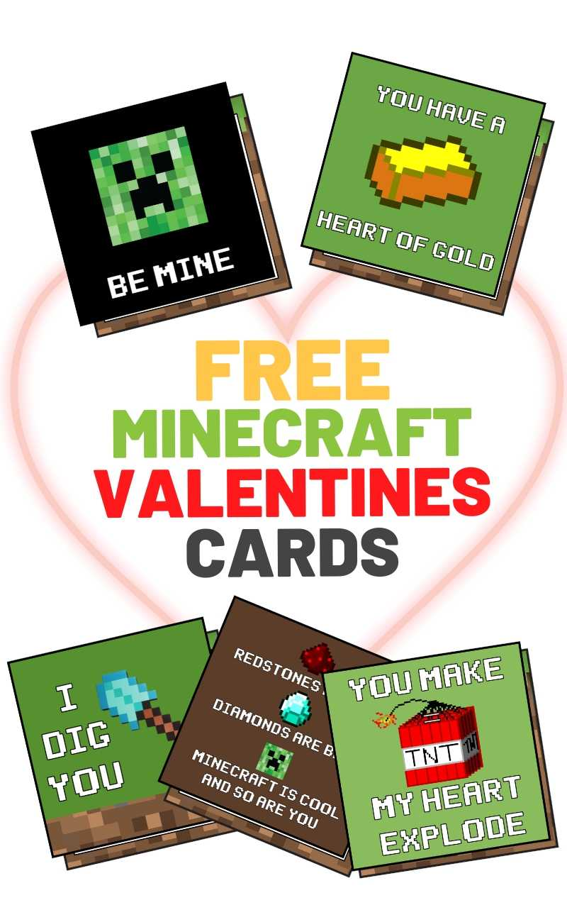 free minecraft valentines day printable cards