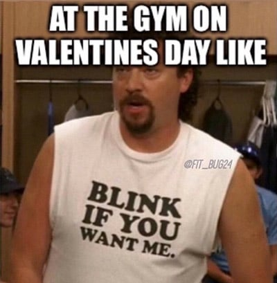 Single at the gym on valentine's day