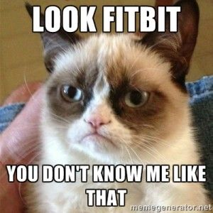 Look fitbit you dont know me grumpy cat meme
