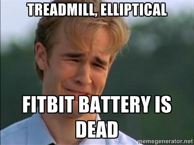 fitbit battery is dead