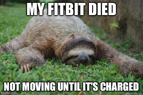 my fitbit died, not moving until its charged