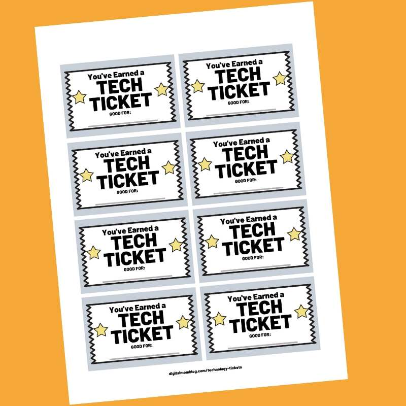 free tech tickets screen time management