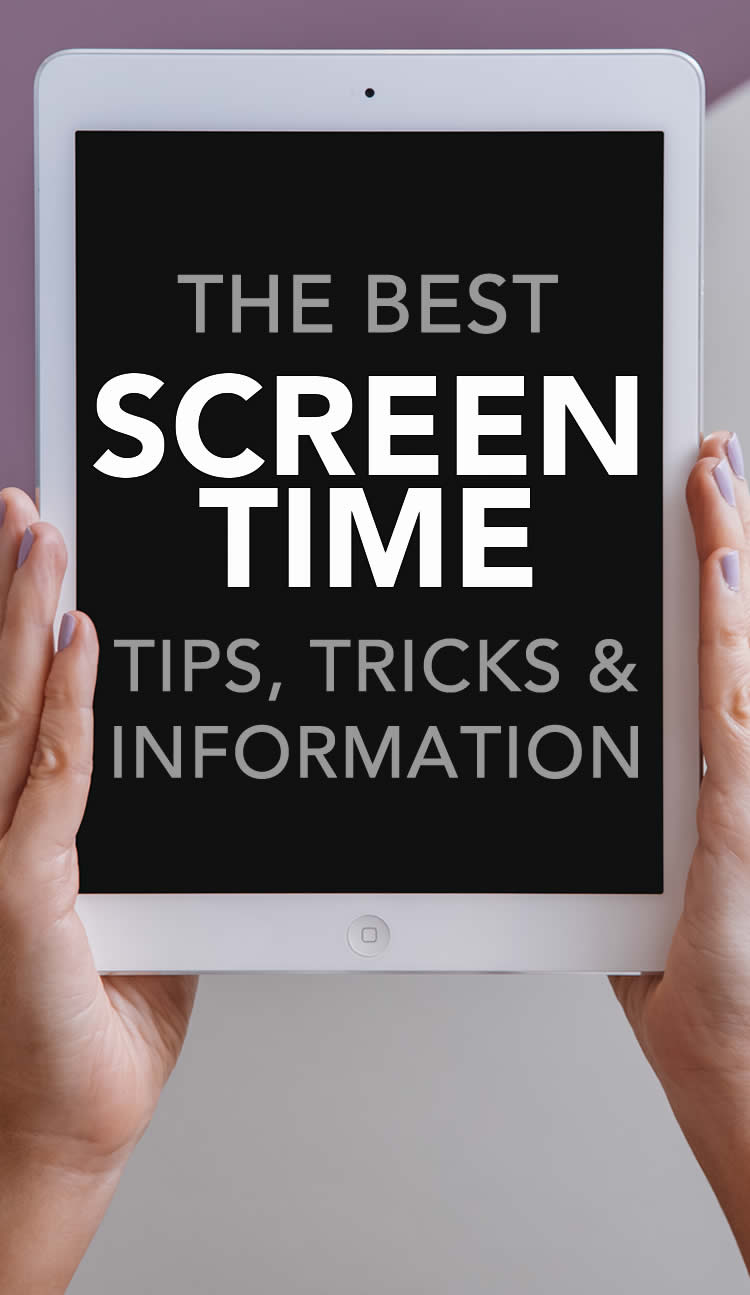 Screen Time Tips Tricks and Information on iPad held up by hands