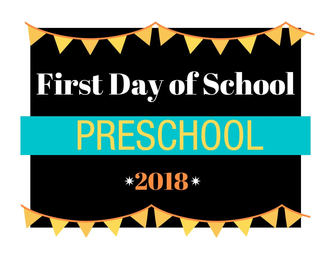 Free Printable 2018 First Day of School Sign