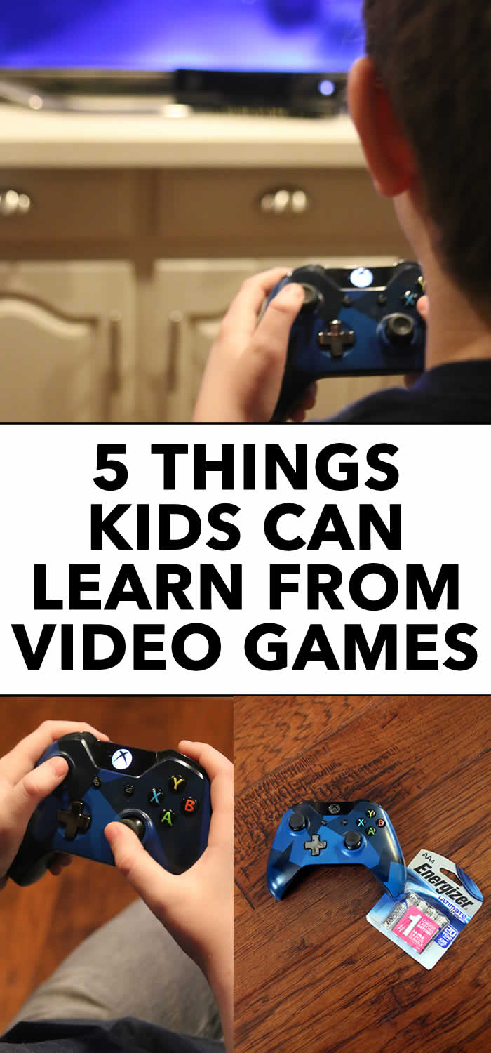 5 things kids can learn from video games #parenting #kids #videogames
