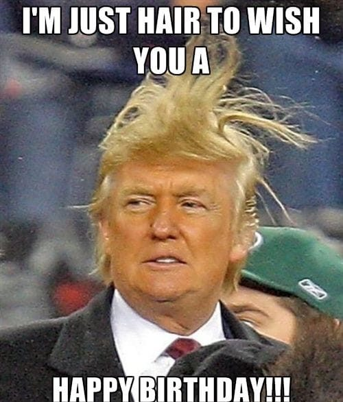 hair trump birthday meme