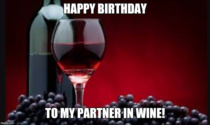 birthday partner in wine meme
