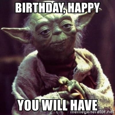 star wars yoda birthday happy you will