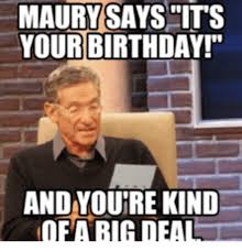 maury polvich reading it's your birthday meme