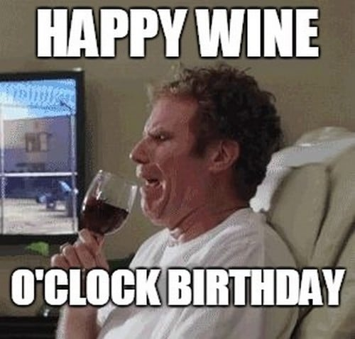 wine o clock birthday meme