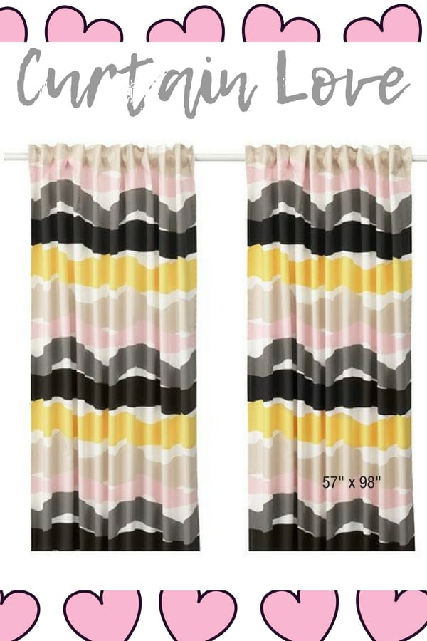 ODDVEIG IKEA Curtains pink brown gray beige white long curtains