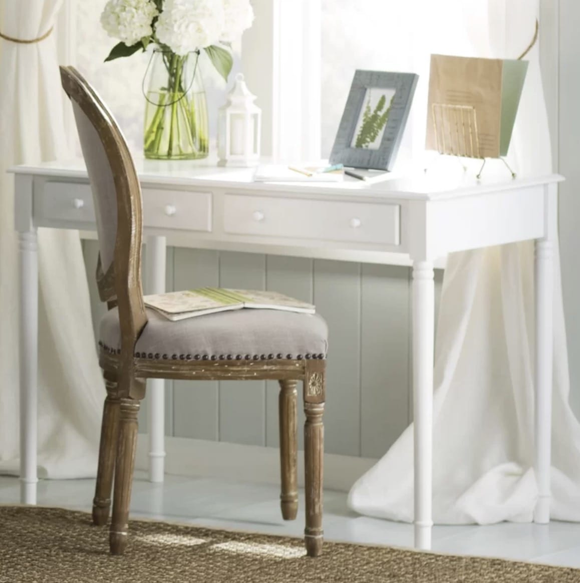 white traditional writing desk