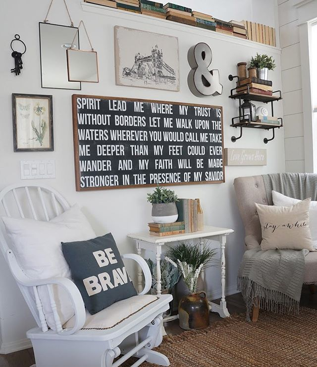 photo wall idea with quotes