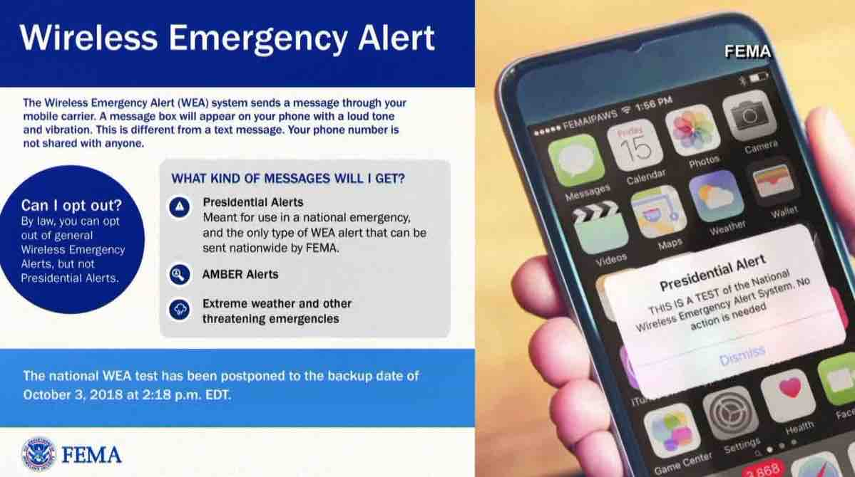 fema - no opting out of presidential alerts