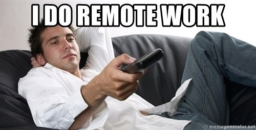 remote work meme