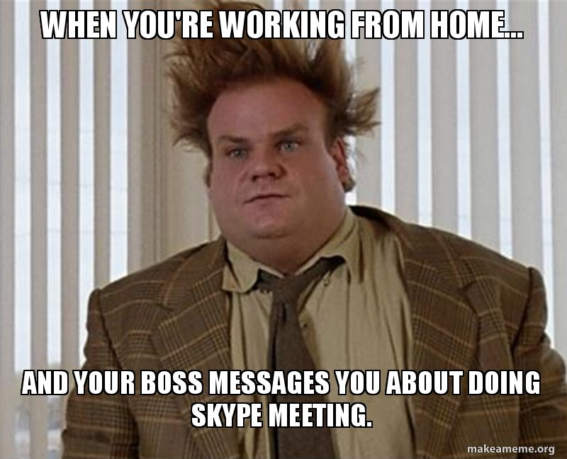 remote work skype meeting