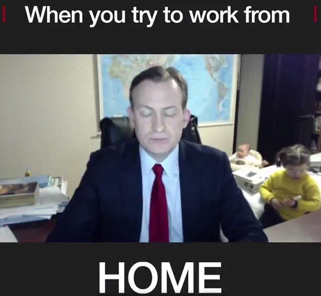 work from home with kids meme