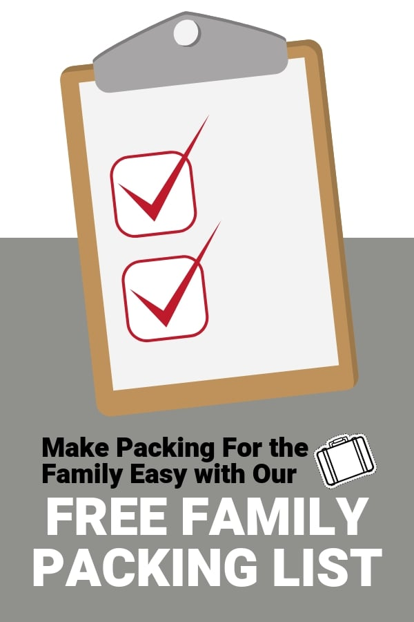 family packing list pdf help pack for road trips