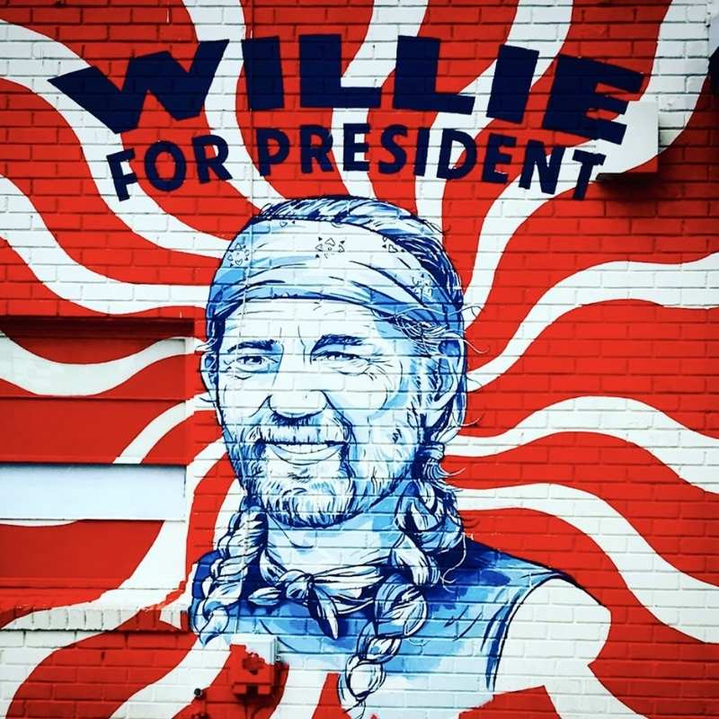 willie nelson billboard things to do in austin - willie for president -texas