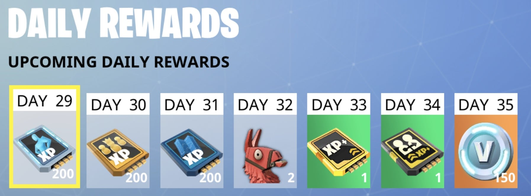 fortnite game battle pass daily rewards