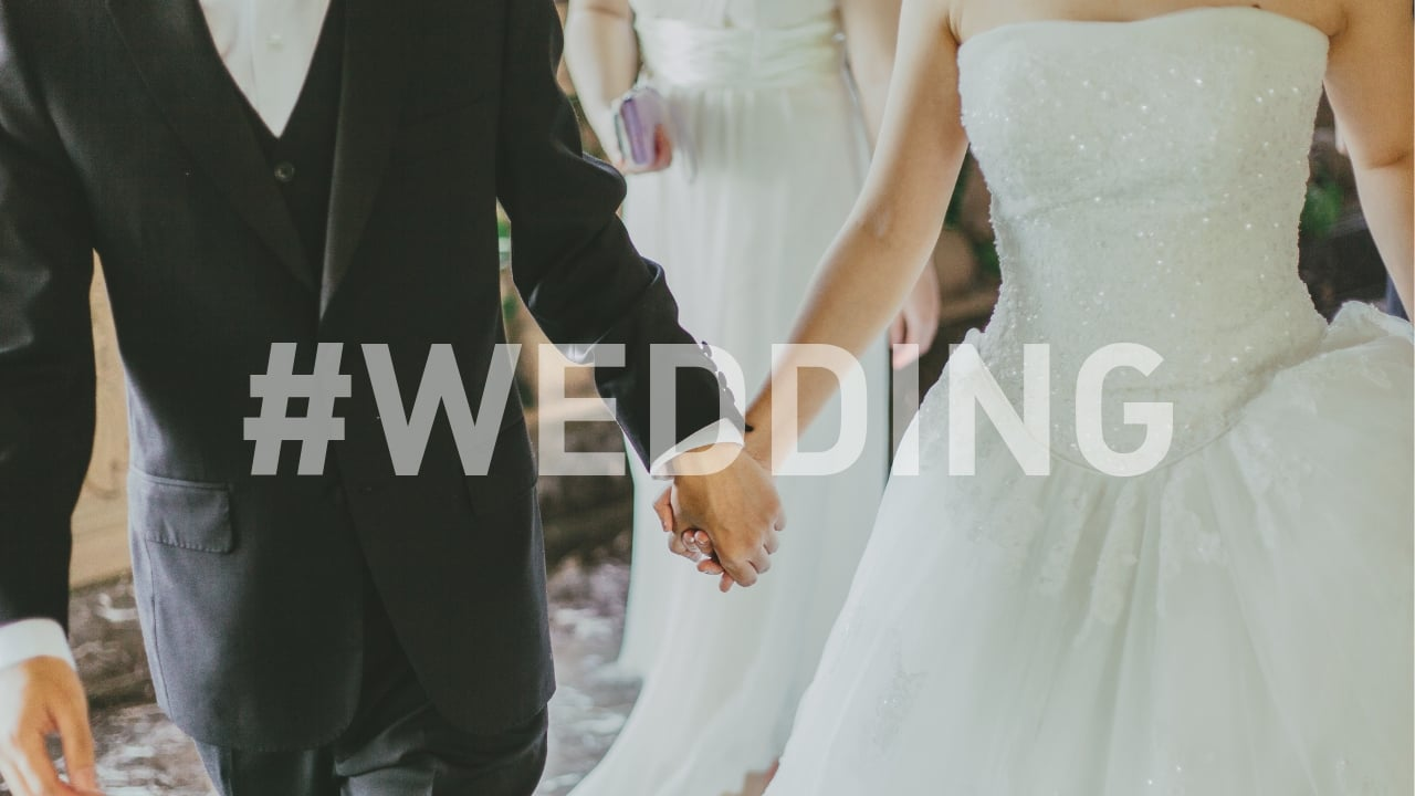 getting married social media wedding hashtags