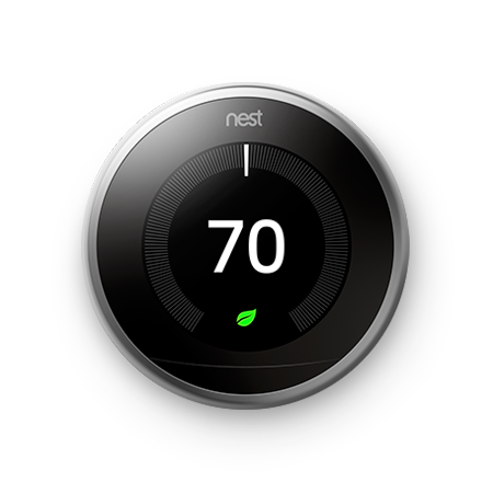 nest thermostat google home connected