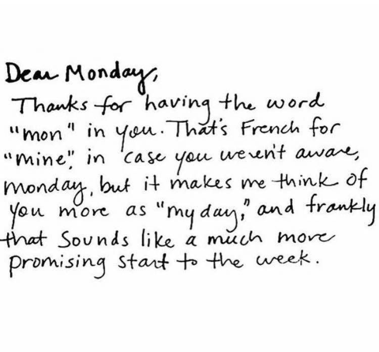 Dear Monday - meaning of monday