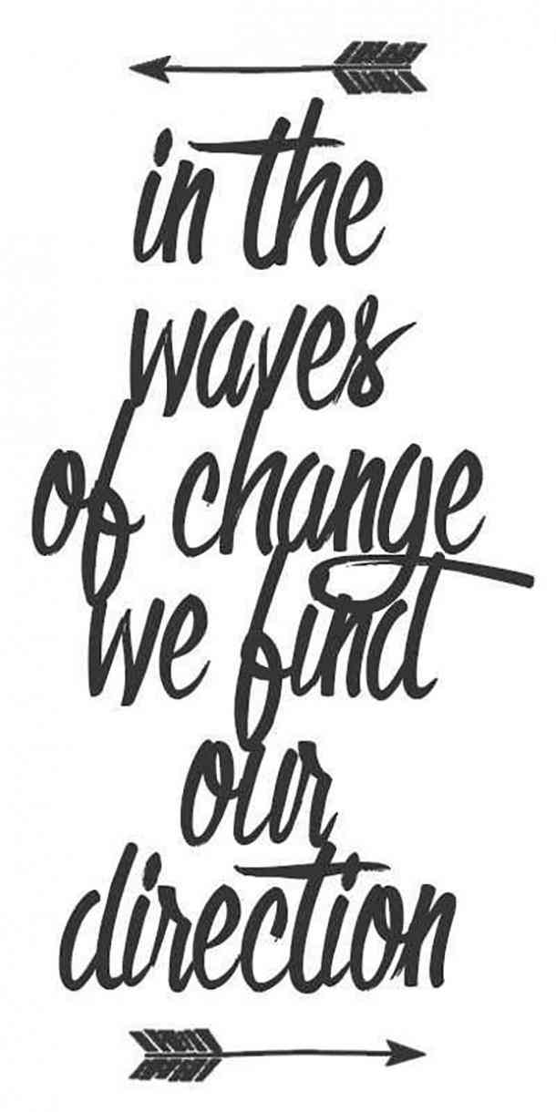 In the waves of change we find out direction. monday motivational quote