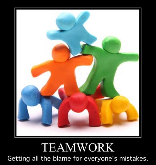 teamwork meme getting all the blame for coworkers mistakes