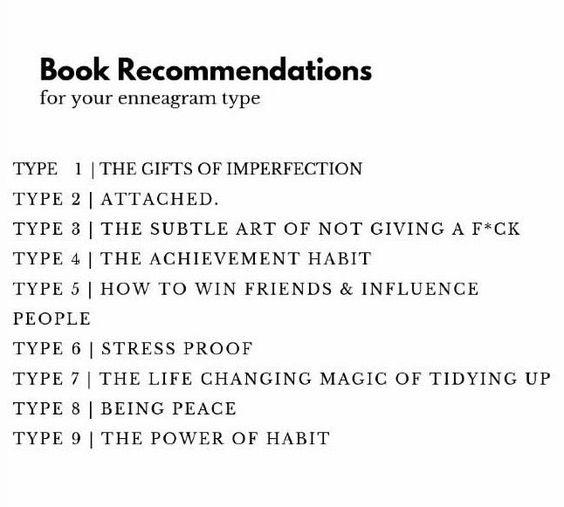 book recommendations for enneagram types