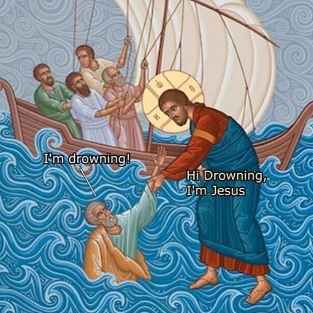WWJD - Drowning in front of Jesus