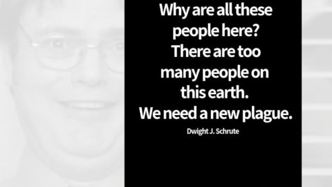 dwight_office_quotes2Why are all these people here? There are too many people on this earth. We need a new plague. - Dwight Schrute Quote