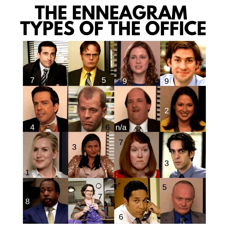 funny enneagram memes - the office
